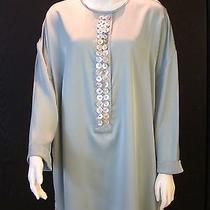 Silk Satin Swarovski Embelished Jeweled Tunic / Dress Size Xl Photo