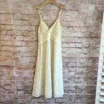 Silk Theory Dress Size 2 Pale Yellow Adjustable Straps Zipper Back  Photo
