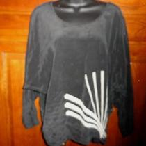 Silk Urban Outfitters Slouchy Dolman Shirt Top Blouse Sz Medium Photo