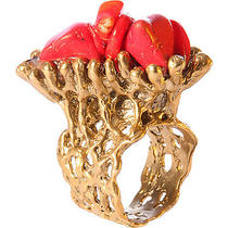 Silvana K Designs Coral Life Ring With Natural Red Jewelry New Photo