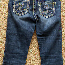 Silver Aiko Capri Jeans Stretch Blue Denim Pants - Women 26 Photo