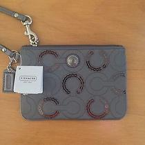 Silver Coach Wristlet With Sequins Nwt Photo