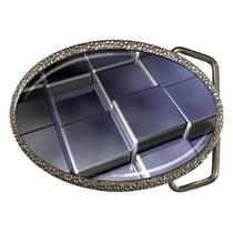 Silver Cube Fantasy Gathering Art Belt Buckle Photo