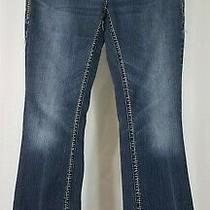 Silver Jeans Aiko Boot Cut Dark Wash Denim Blue Jeans Ladies 28w X 33l Photo