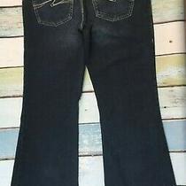 Silver Jeans Aiko Flare Leg sz.36x33 Womens Stretch Dark Wash Denim Flawless J3 Photo
