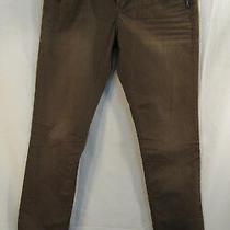 Silver Jeans Aiko Skinny Green Khaki Low-Rise Whiskered Pants Size W26/l31 Photo