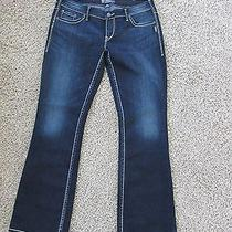 Silver Jeans Gently Worn Aiko Bootcut Size 33 X 33 Excellent Condition Photo