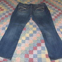 Silver Jeans Size 22 X 31 Aiko Bootcut Mid Rise Thick Stitch Denim Blue Perfect Photo