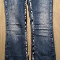 Silver Jeans Womens Aiko Bootcut Tag Size 26x35 Dark Wash Thick Stitch Photo