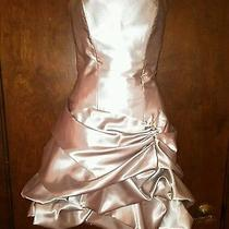 Silver Jessica Mcclintock Short Formal Dress Size 7 Photo