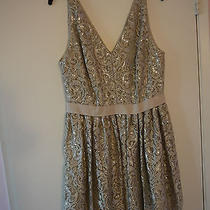 Silver Lace Cooktail/prom Dress by Robert Rodriguez Size 12 Photo