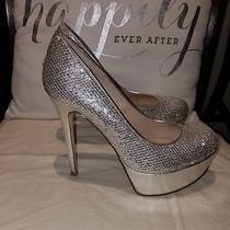 Silver Sexy Aldo Platform Heels Size 9 ..sparkles Shiny Photo