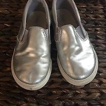 Silver Slip on Sneakers Baby Gap Girls 11 Photo