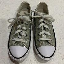 Silver Sparkle/glitter Converse All Star Shoes/sneakers Girls Size 13 Youth Photo