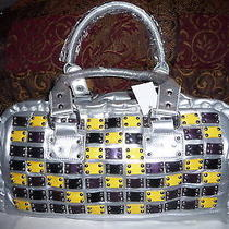 Silver Studded Patch Hobo Tote Hand Bagbrand New Photo