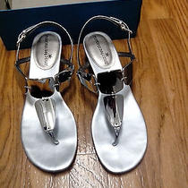Silver Summer Sandle Flat 7.5 Photo