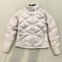Silver the North Face Puffer Jacket Size Small Photo
