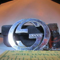 Silver Tone Gucci Belt Buckle Photo