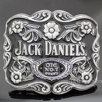 Silver Western Jack Daniels Element Old no.7 Emboss Belt Buckle Line Dance Photo