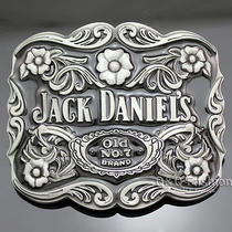 Silver Western Jack Daniels Element Old no.7 Emboss Belt Buckle Line Dance W8 Photo