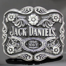 Silver Western Jack Daniels Element Old no.7 Emboss Belt Buckle Line Dance Photo