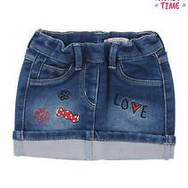 Silvian Heach Bebe Denim Skirt Size 12m Patches Elasticated Waist Photo
