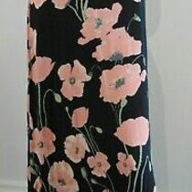 Simply Be Capsule Black  Blush Floral Jersey Skirt Plus Size Uk 28 New  Tags Photo