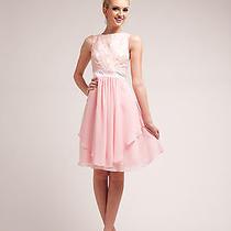 Simply Elegant Lacy Sleeveless Top Layered Chiffon Short 2015 Prom Dress Formal Photo