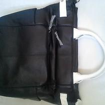 Simply Nina Black Leather Tote Made From Genuine Lambskin (Retail Price 600) Photo