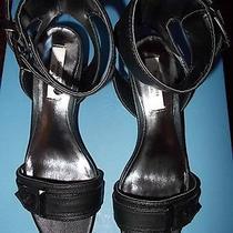 Simply Vera by Vera Wang Black Sandals/heels Size 6-Niew-75-Mirrored Heel Photo