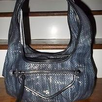 Simply Vera by Vera Wang Purse Shoulder Bag Satchel Blue Faux Python-New 69  Photo