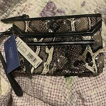 Simply Vera by Vera Wang Python Wristlet Clutch New Photo