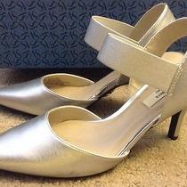 Simply Vera by Vera Wang Silver Dress Heels Nib 75  Size 5.5 Great Wedding Shoe Photo