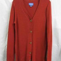 Simply Vera Vera Wang Coral Cardigan Sweater Size Xl Photo
