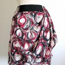 Simply Vera/ Vera Wang Designer 1980's Style Abstract Print Mini Skirt- 10 Photo