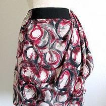 Simply Vera/ Vera Wang Designer 1980's Style Abstract Print Mini Skirt- 10 Photo