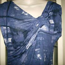Simply Vera Vera Wang Dress Sz L Blue Woman's Ladies Casual Work Dress  Photo