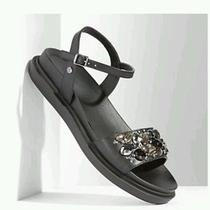 Simply Vera Vera Wang Embellished Sandals - Women Size 6.5m - Black - New Photo