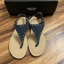Simply Vera Vera Wang Fireworks Navy Sandals Size 6.5 New With Box Photo