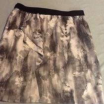 Simply Vera Vera Wang Gray/white Tie Dye Pencil Skirt With Ruffle Photo
