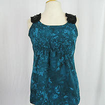 Simply Vera Vera Wang Green Blue Black Jewel Embellished Tank Top Ps Photo