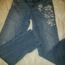 Simply Vera Vera Wang Straight Leg Blue Jeans Size 2 Capri Mid Rise Jeans Photo