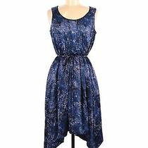 Simply Vera Vera Wang Women Blue Casual Dress M Photo