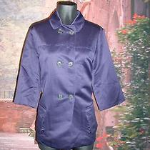 Simply Vera Wang Amythist Purple Large Jacket Double Breasted 3/4 Sleeve Photo