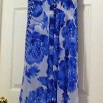 Simply Vera Wang Hi Lo Dress Blue White Nice Nwot Photo