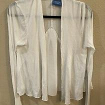 Simply Vera Wang Light Sweater White Sz Medium  Photo