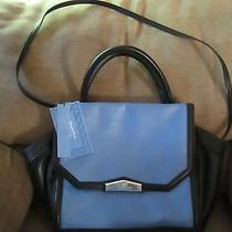 Simply Vera Wang Madrid Flap Satchel Ocean Blue Handbag Purse Nwt 89 Photo