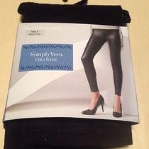 Simply Vera Wang Micro Suede Legging Size L  Black Retail 44.00 Photo