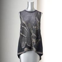 Simply Vera Wang Mixed Media Sweater Sleeveless Top Tank Droptail Hem Xsmall Nwt Photo