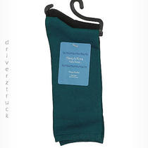 Simply Vera Wang New Tuscan Teal & Black 2 Pair Pack Dress Socks One Size Luster Photo